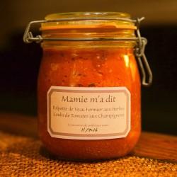 Polpette de Veau, Coulis de Tomates & Champignons
